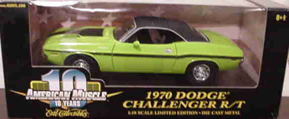 1970 Dodge Challenger Sublime Green HEMI 1 18 Ertl American Muscle 32946