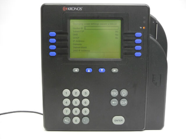 Kronos 480f Time Clock For Sale: Kronos 4500 Proximity Time Clock Ethernet 8602004-003 For