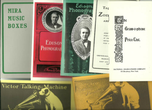 Zon-o-phone Mira.. Victor Vitaphone Lot of 14 Booklets: Edison Talk-o-phone