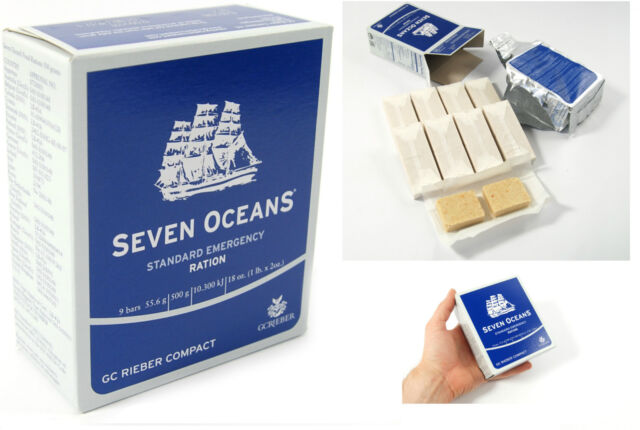 1x 500g EMERGENCY FOOD RATION MEAL SURVIVAL BISCUITS SEVEN OCEANS NORWAY MRE SOS