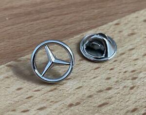 Mercedes Benz Stern Zeichen Logo Pin in silber