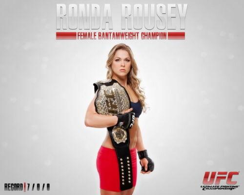 """UFC Womens Bantamweight Champion 30/""""x24/"""" Poster 020 Ronda Rousey"""