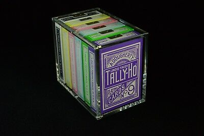 Strong Clear Acrylic Magnetic Seal Carat X3 Card Case For 3 Playing Card Decks