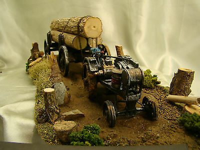Lot 6 Less Expensive Custom Weathered Scale Gasoline Tractor G From The Year 1910