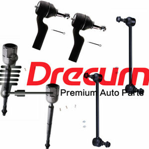 Sway Bar Links Replacement for 1995-2002 Lincoln Continental 6pc Set Front Inner Outer Tie Rods Detroit Axle