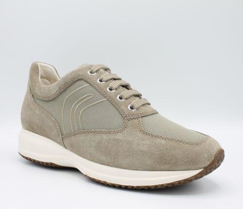 U4162g Geox Baskets Chaussures Daim Avec Homme En Tissu Happy Relev Semelle Et 5qqrxRcn6w