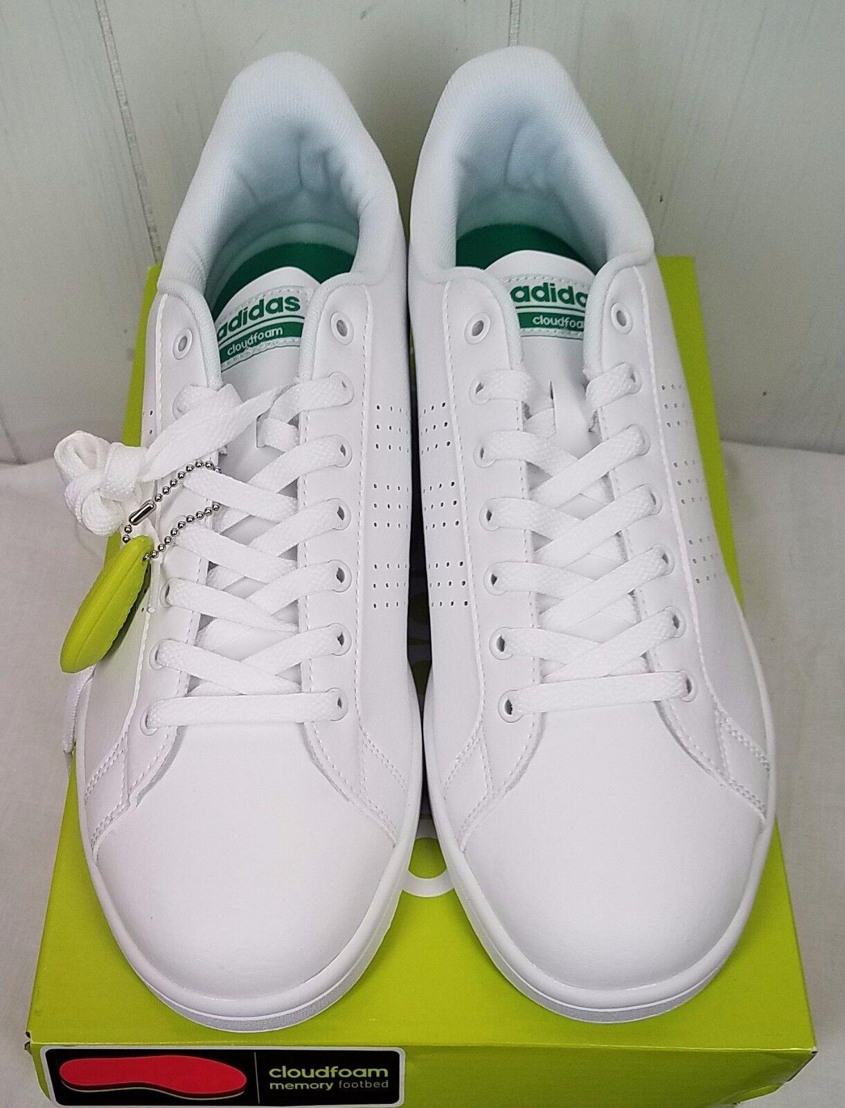 Adidas Men's Cloudfoam Advantage Clean Fashion Sneaker White Sz 11NIB