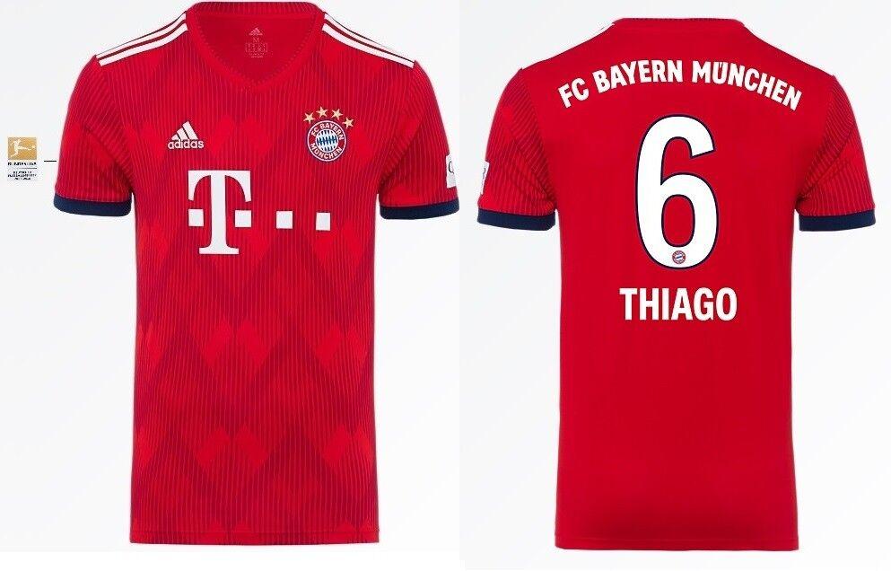 Trikot Adidas FC Bayern 2018-2019 Home BL- Thiago 6 6 6  Bundesliga 5f76ce