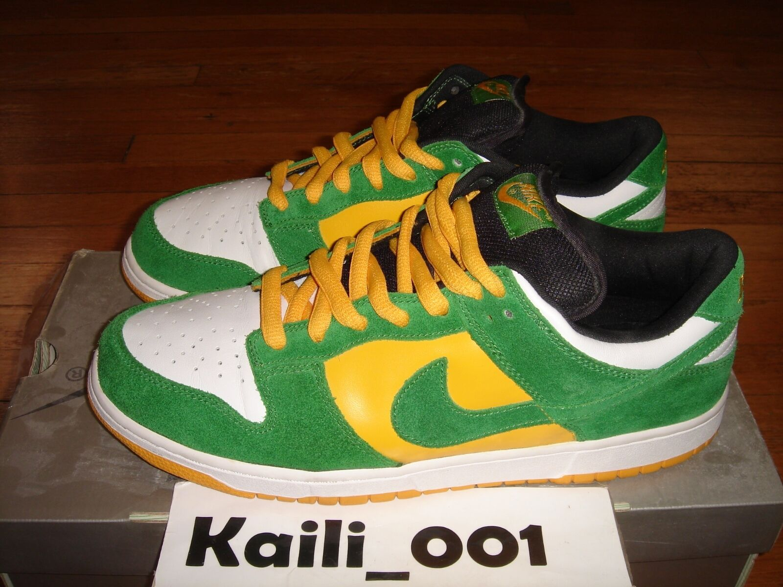 Nike Dunk Low Pro SB Size 12 Bucks USED WORN 304292-132 Flashes Loden Forbes B