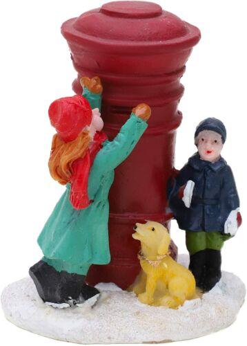PM125-TL Mini Resin Christmas Village Scene Collectible Ornament Children