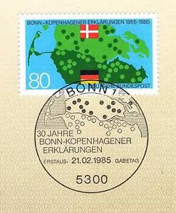 BRD-1985-Bonn-Kopenhagener-Erklaerungen-Nr-1241-mit-Bonner-Sonderstempel-1A-1909
