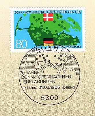 Ausdrucksvoll Brd 1985: Bonn-kopenhagener Erklärungen Nr 1241 Mit Bonner Sonderstempel 1a! 156