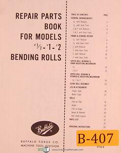 Buffalo 1/2 - 1 - #2, Bending Rolls, Repair Parts Manual Year (1975)