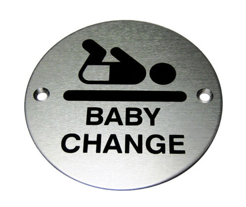 BABY CHANGE DOOR SYMBOL 76MM WITH DRILL HOLES /& FIXING SCREWS ARC-65A