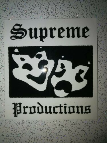 SS16 Supreme Productions Sticker 100/% Authentic