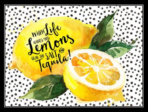 When Life Gives You Lemons Retro metal Aluminium Sign vintage man cave