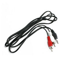 3.5mm Male Stereo Plug to AV Audio Jack 2 RCA Adapter M/M Cable for iPod MP3 5ft