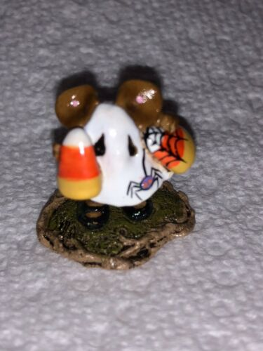 Special Color Wee Forest Folk Spider /& Spider Web Candy Corn Kid Mint New