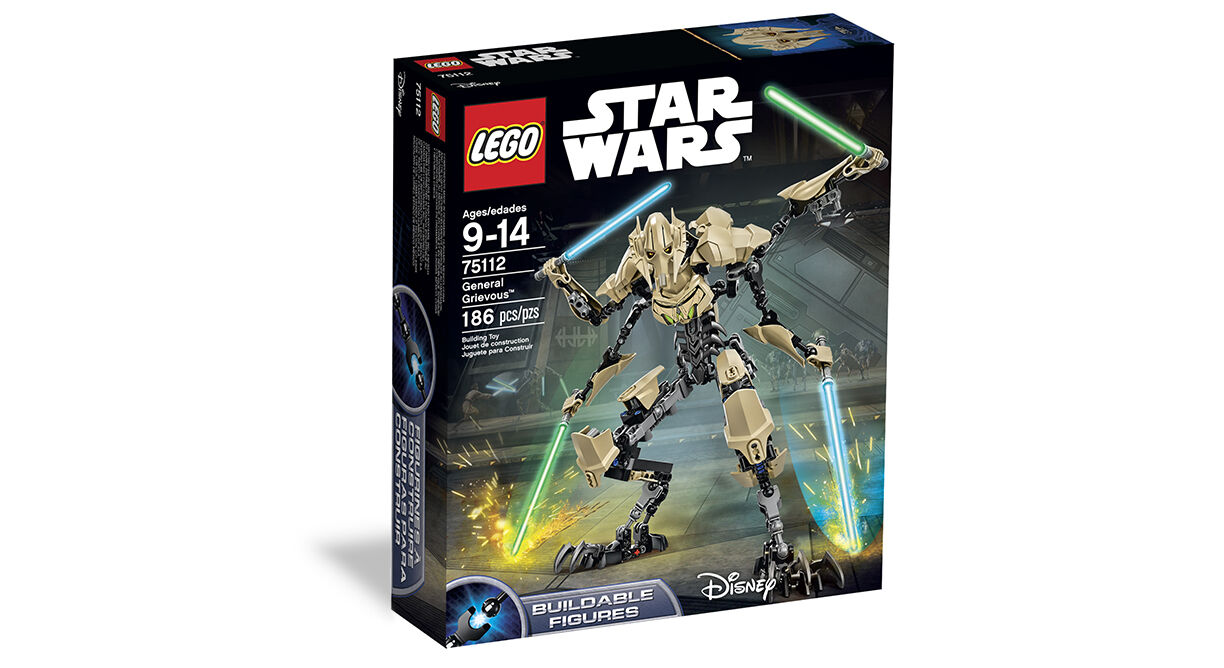 LEGO LEGO LEGO Star Wars_75112_General Grievous_186 pcs pzs_Brand New Sealed Set 832937