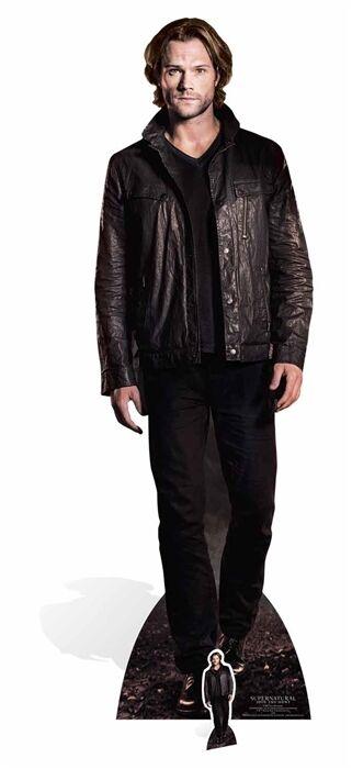 Sam Winchester Supernatural Lebensechte Größe & Mini Pappfigur Aufsteller