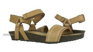 31854ca2449acf Image is loading Teva-Ysidro-Stitch-Tan-Leather-Sandals-Womens-Size-