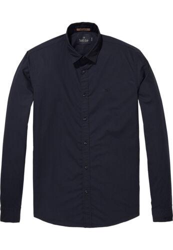 SCOTCH /& SODA Camicia Men Classic Shirt 139561 BLU SCURO 0093