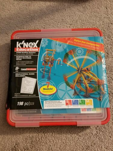 198 Pieces Grades... Gears Set K/'NEX Education Intro to Simple Machines