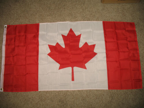 Canada Canadian Super Polyester 3x6 ft 3/'x6/' Flag Banner Official Country Size