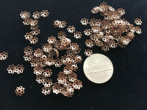 200 Versatile Antique Copper Filigree 7mm Bead Caps TWO HUNDRED
