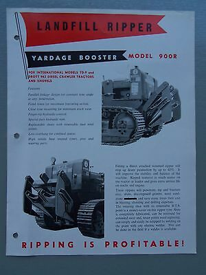 Workmanship Exquisite In Charitable Landfill Ripper Model 900r Yardage Booster Genuine Original Sales Brochure