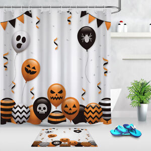 Halloween skull Bathroom Waterproof Fabric Shower Curtain /& 12 Hooks 71*71inch