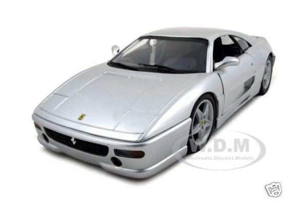 lo último Ferrari F355 Berlinetta Plata 1 18 Diecast Diecast Diecast Model Coche De Hotwheels 25735  buena calidad