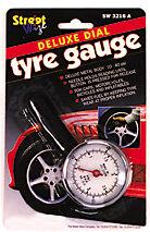 Portable Metal Motorbike Bicycles /& Car Dial Type Tyre Wheel Pressure Gauge
