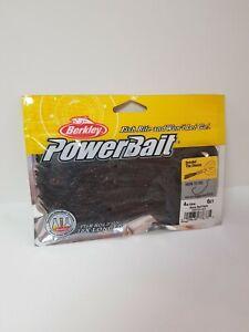 Berkley-Powerbait-Bearded-The-Deuce-Tail-Grub-4in-6pk-BLACK-RED-FLECK