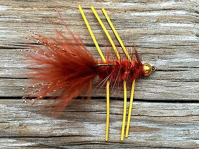 Fly Fishing Flies (Bass, Bream, Trout, Redfish) Beadhead Autumn Splendor (6)