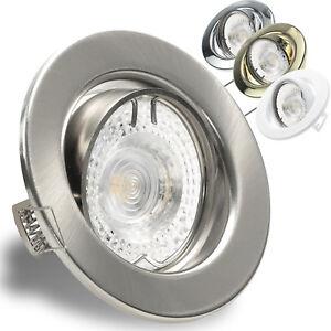 Flacher LED Einbaustrahler Deckenlampe dimmbar ohne Dimmer 7W LED 230V 550LM