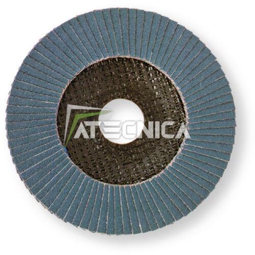 Disco lamellare abrasivo 115 grana 40 metallo e INOX smerigliatrici flex mole