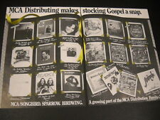 BARRY McGUIRE Phil Keaggy KEITH GREEN Marty McCall etc RARE 2-Pc PROMO POSTER AD
