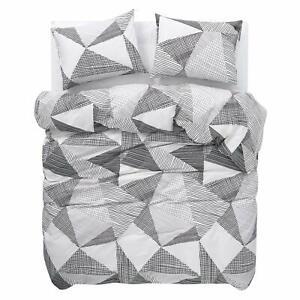 100-Algodon-Funda-De-Edredon-Ropa-de-cama-de-impresion-geometrica-200TC-Doble-King-Super-Rey