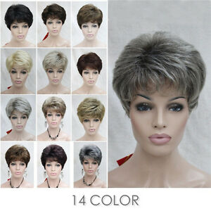 14-Colors-Short-Curly-Women-ladies-Daily-Hair-Wig-Natural-with-wig-cap-5976