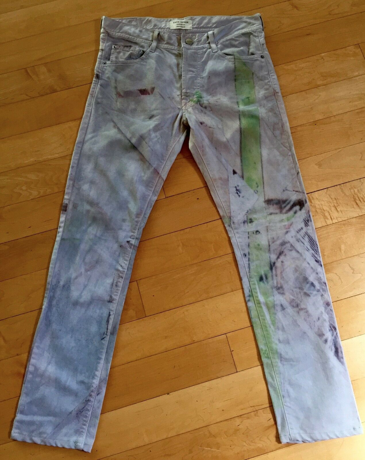 Each x Other women's jeans Sz27, pastel, straight leg, cotton, Limited edition