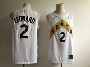 wholesale dealer 25fd3 bdb39 Details about Men's Toronto Raptors Kawhi Leonard #2 White Swingman City  Edition Jersey
