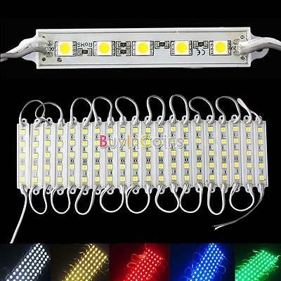 5 SMD 5050 LED Module Light Waterproof Hard Strip Bar Light Lamp 12V 5 Color new
