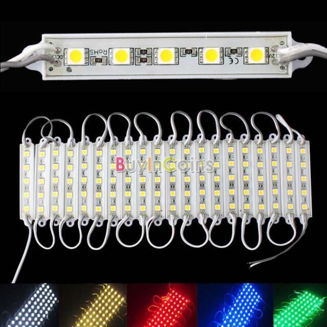 5 SMD 5050 LED Module Light Waterproof Hard Strip Bar Light Lamp 12V 5 Color YU