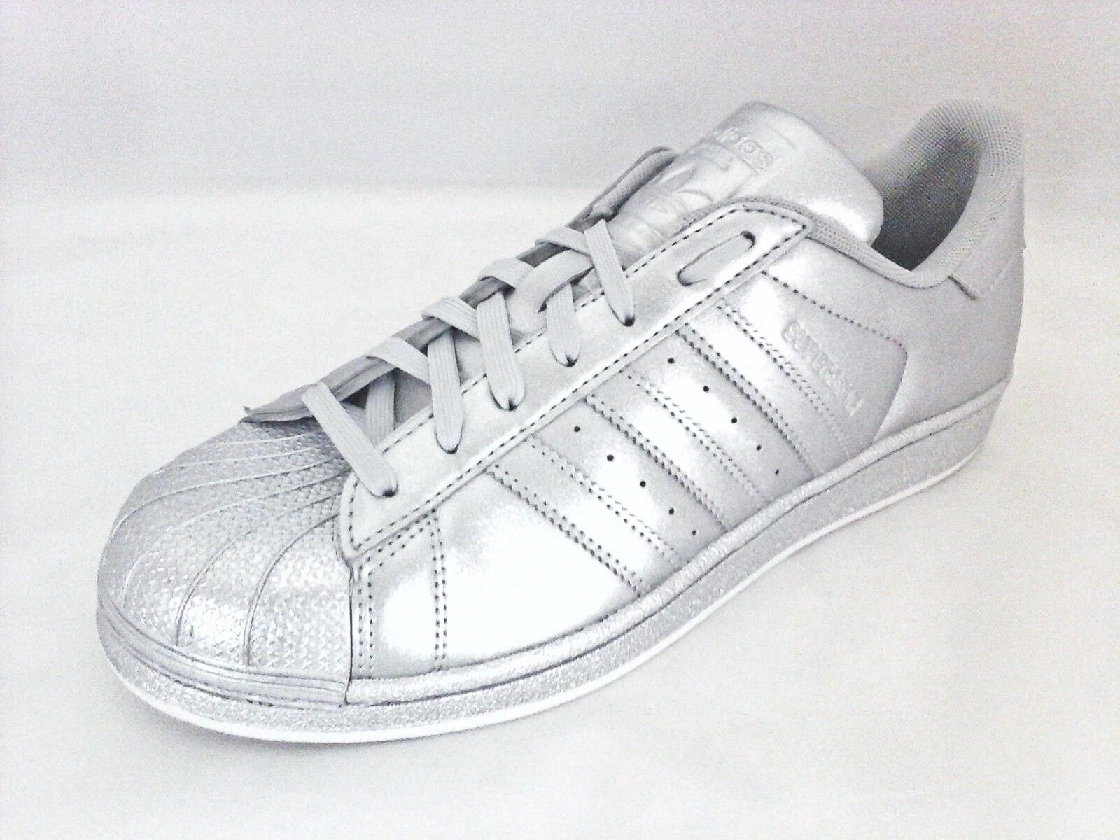 Women's Adidas Originals Superstar Metallic Siver Sneakers Price reduction