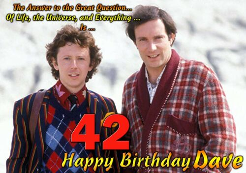 42 Happy Birthday The Hitchhiker/'s Guide to the Galaxy personalised ART Card tv