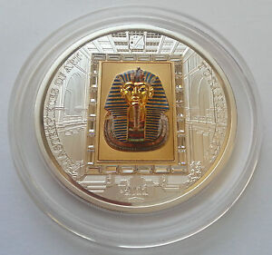 TUTANKHAMUN-1-4oz-Gold-3oz-Silver-Coin-20-Masterpieces-of-Art-Cook-Islands-2011