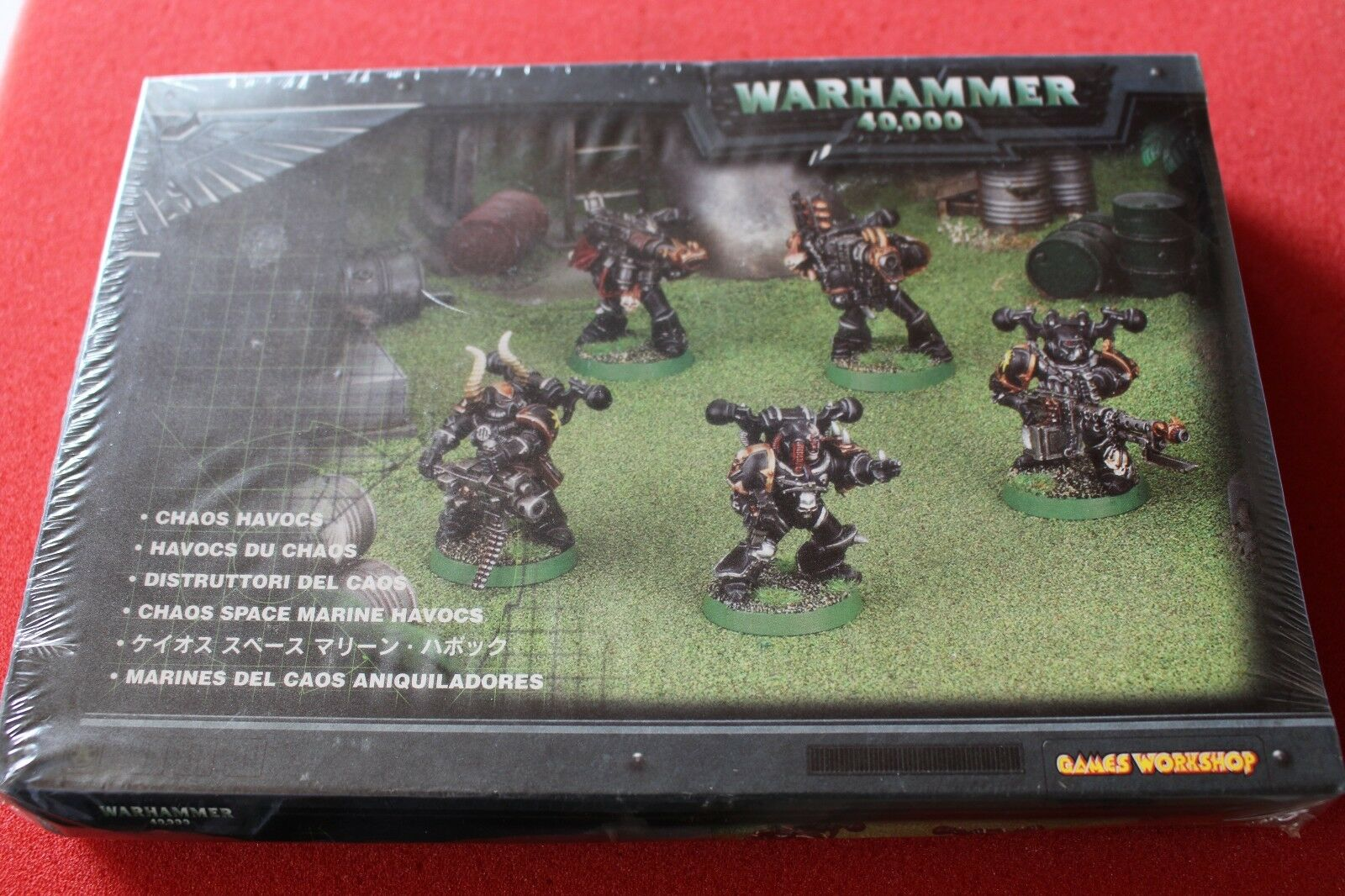 Spel arbetarhop Warhammer 40k Chaos Space Marines Havocs Squad BNIB Metal OOP GW