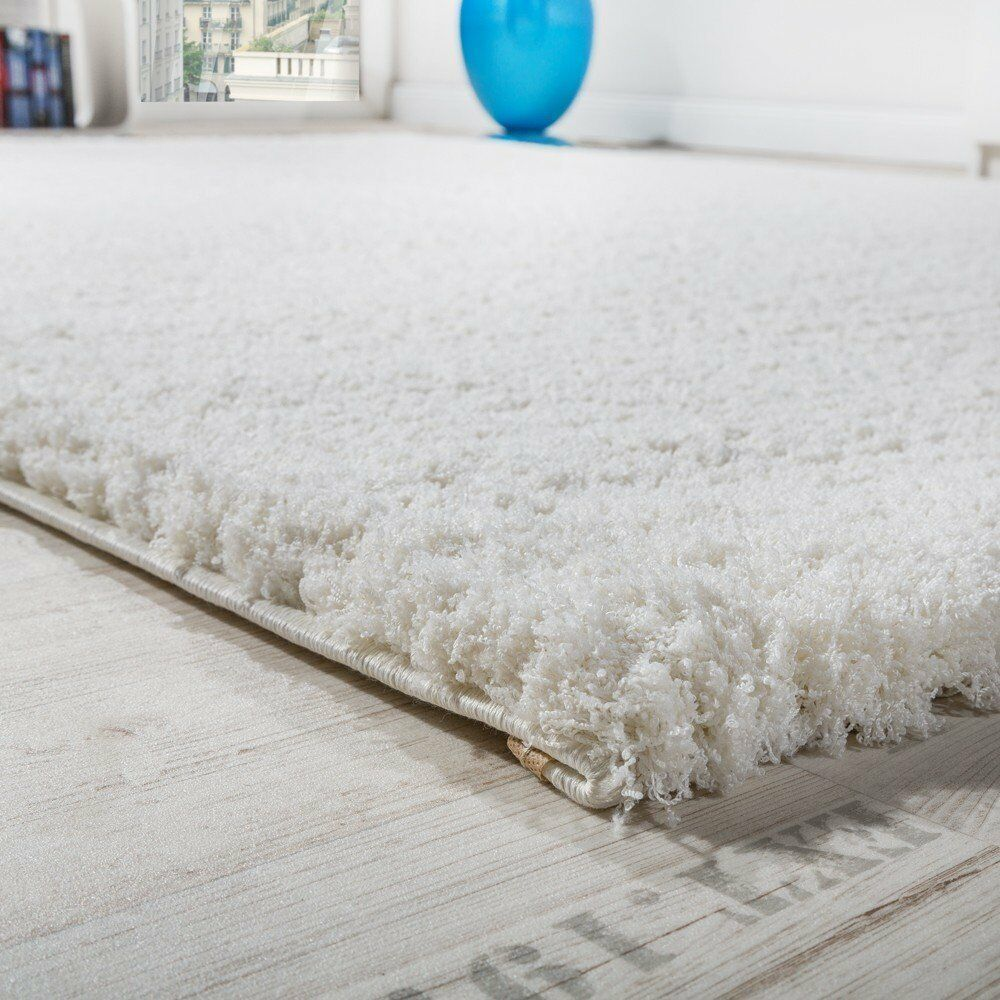 Small X Large Weiß Fluffy Rug Living Room Room Room Shaggy Pile New Carpet Round Bedroom 7144c0