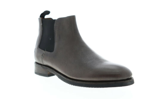 Frye Peyton Chelsea 80599 Mens Gray Leather Slip On Boots